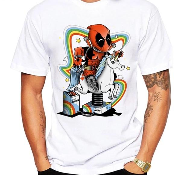 f2a42555 Shirts | Deadpool Graphic Design Tshirt Unicorn Chest 44 | Poshmark